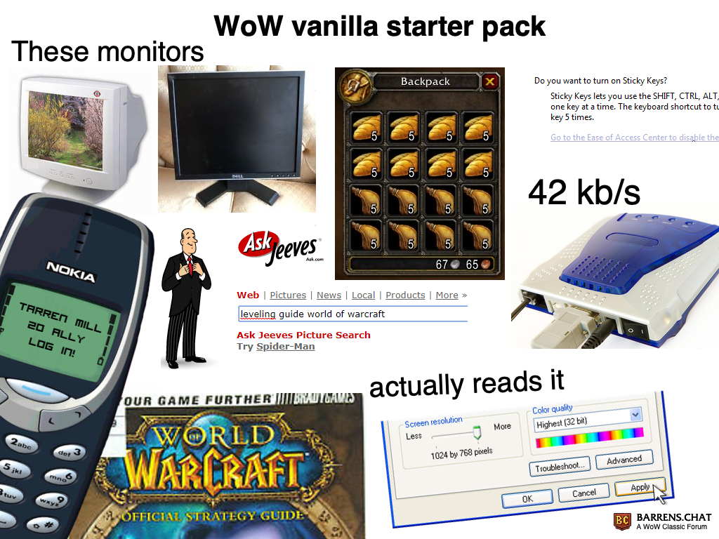 Classic wow memes • WoW Classic • Barrens Chat