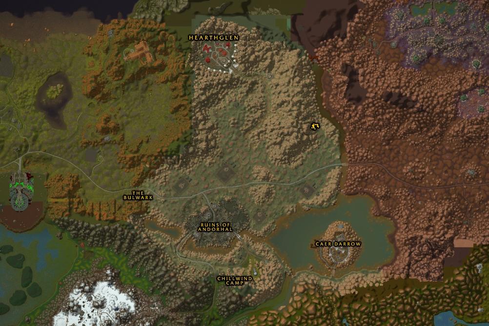 Atlas World Map Classic Western Plaguelands 10