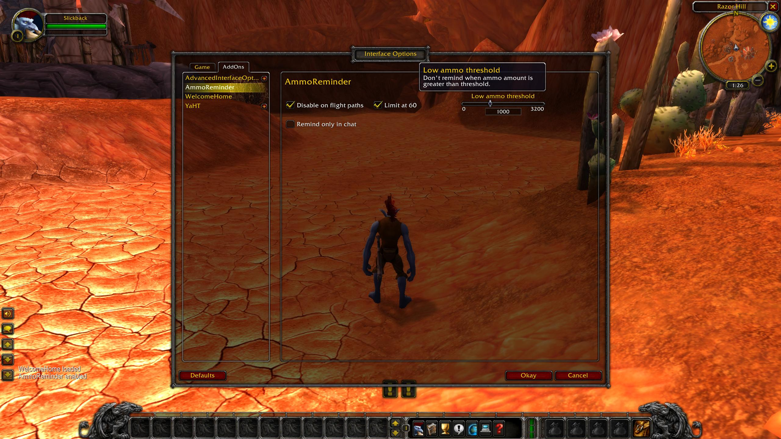 Ammoreminder Wow Classic Addon 1.13 Config