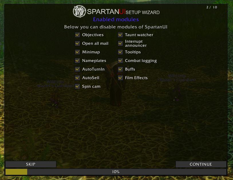 Wow Classic Spartanui Addon 1.13 Setup 2