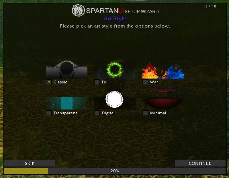 Wow Classic Spartanui Addon 1.13 Setup