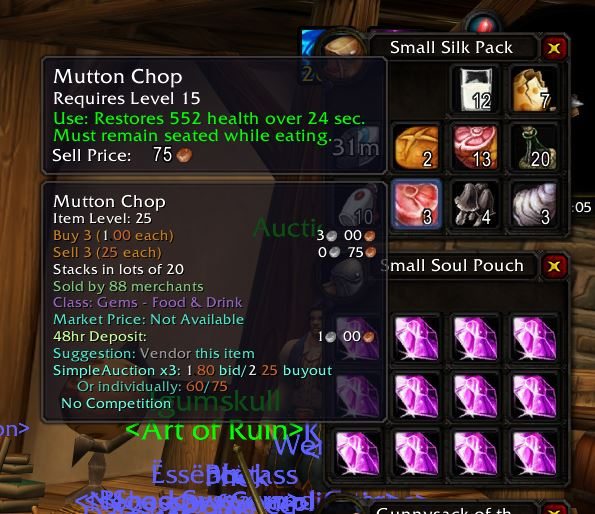 Auctioneer Wow Classic Addon 1.13 Tooltip 1