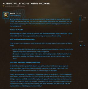 Adjustments Coming To Alterac Valley And Diminishing Returns In Wow Classic