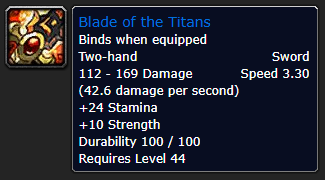 Blade Of The Titans