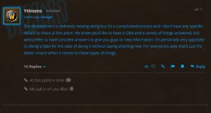 Blizzard Responds to WoW Classic Development Community Questions