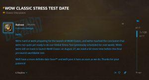 Blizzard Postpones The Global Stress Test