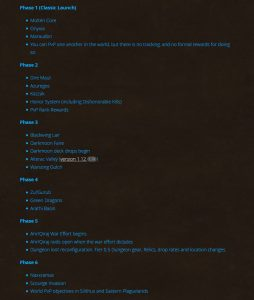 Blizzard releases the PVP content plan for WoW Classic