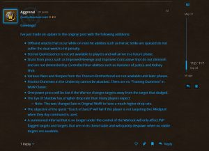 Blizzard Updates The Not A Bug List