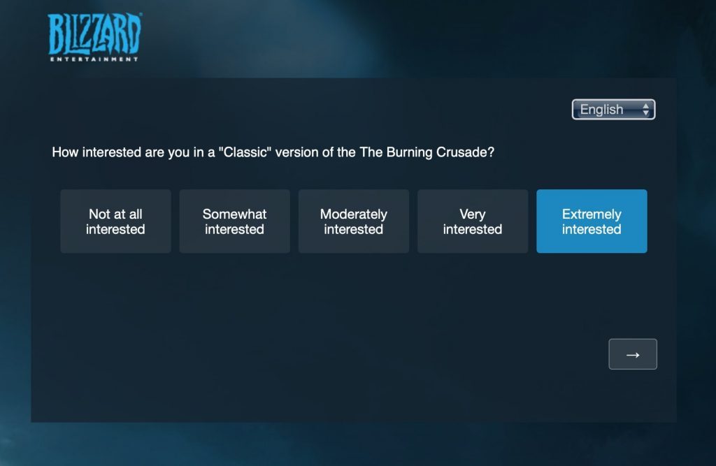 Burning Crusade Classic Survey Questions Sent Out By Blizzard