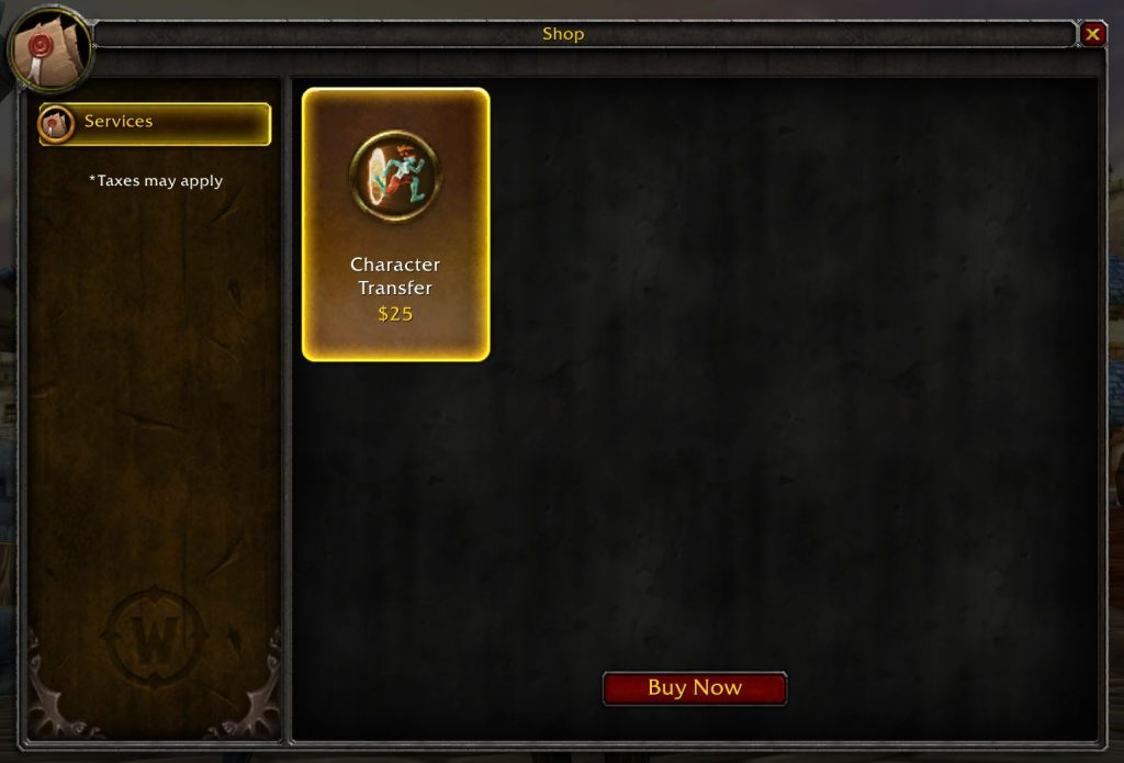Character Transfers Are Now Removed From All Realms
