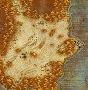 Classic Treasure Chest Hunting Guide Images Tanaris North of Uldum