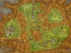 Classic Wow Noblegarden Guide Images Teldrassil Map2