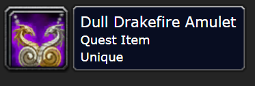 Classic Wow Onyyxia's Lair Attunement Guide Dull Drakefire Amulet