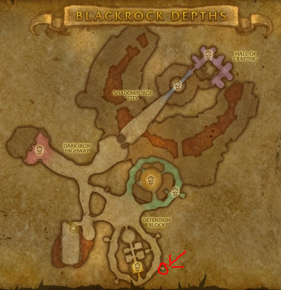 Classic Wow Onyyxia's Lair Attunement Guide Marshal Windsor Map