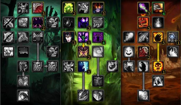 DS Ruin WoW Classic Warlock Talent 7-21-23