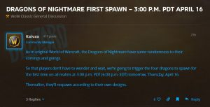 Dragons Of Nightmare First Spawn @ 3pm Pdt April 16th In Wow Classic