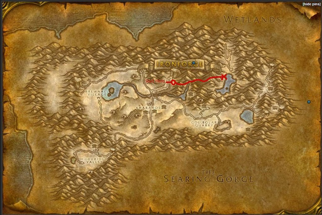 Dun Morogh Map Finding Airfield