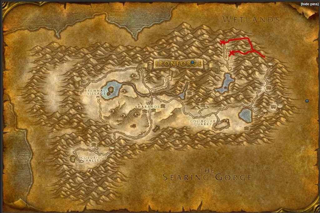 Dun Morogh Map Finding Airfield2