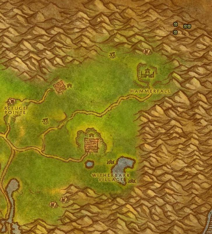 Ghost Mushroom Hunting Guide Images Arathi Highlands Map