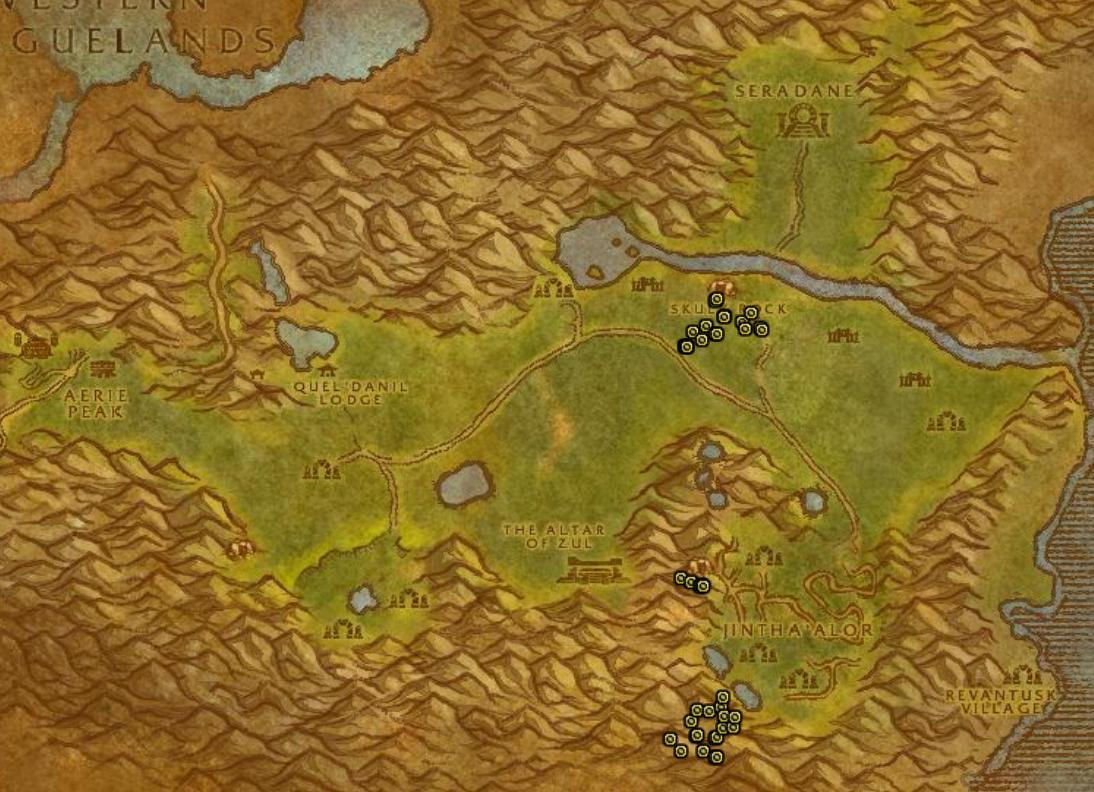 Ghost Mushroom Hunting Guide Images Hinterlands Map