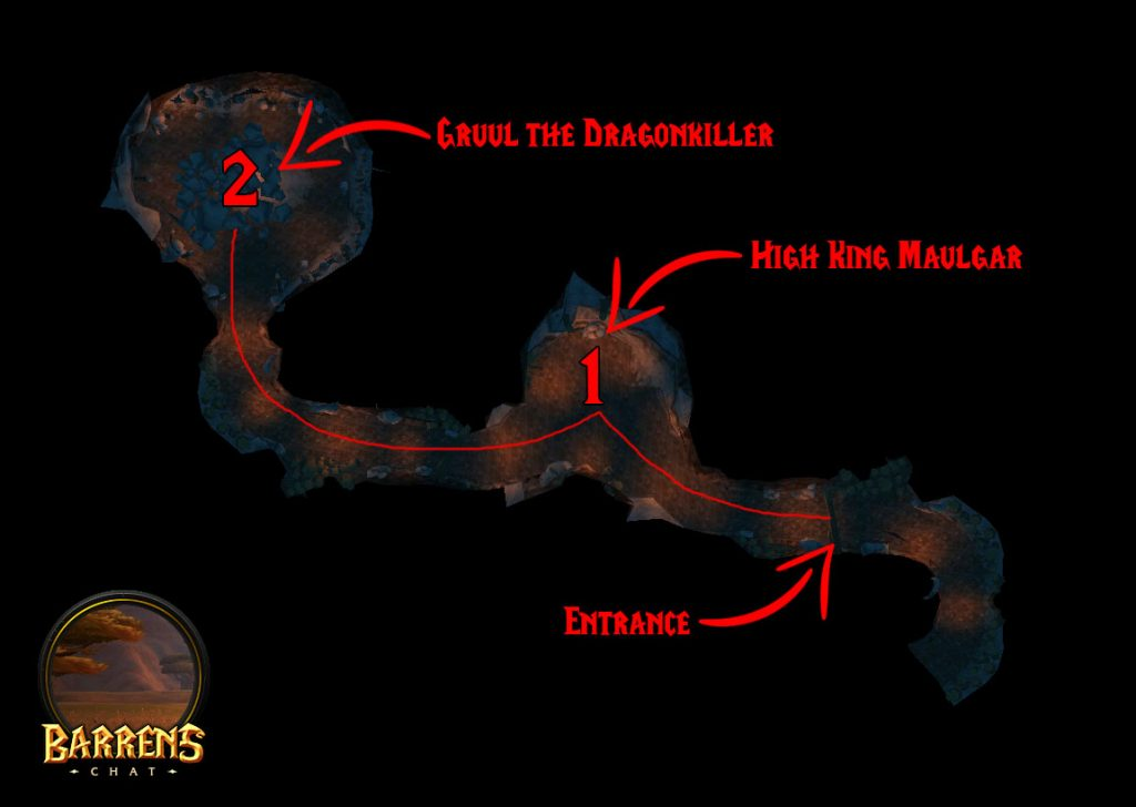 Gruul's Lair Map & Boss Locations