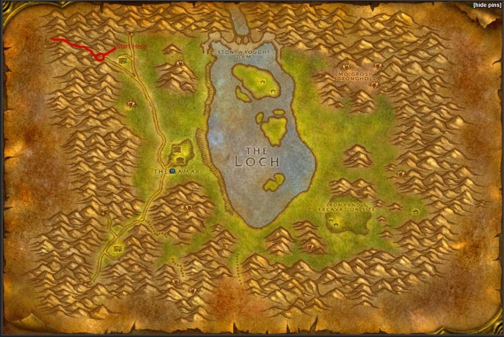 Loch Modan Map Finding Airfield