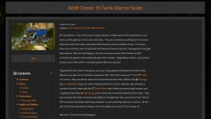 New Level 19 Twink Guides For Rogues, Warlocks, And Warriors!