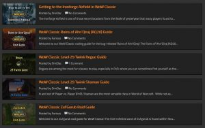 New Wow Classic Guides Added For Raiding, Twinking, And More!