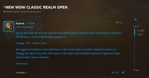 New Realm Stalagg Added To Us Server List