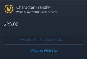 Paid Character Transfer Support Added (but Not Enabled) In Patch 1.13.3