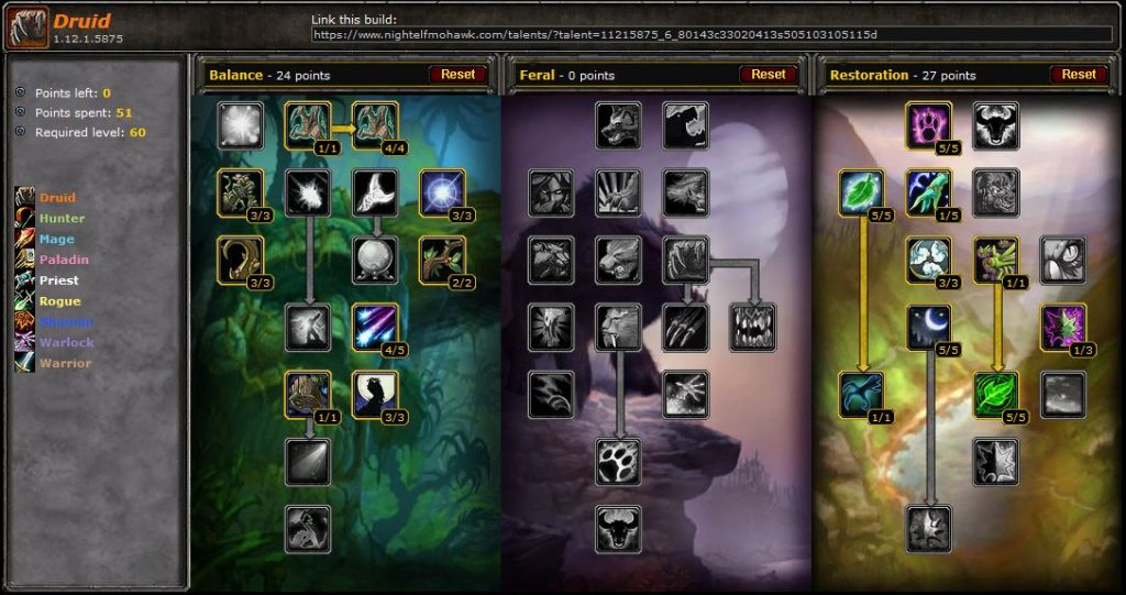 PvE Druid Restoration Guide for Vanilla WoW