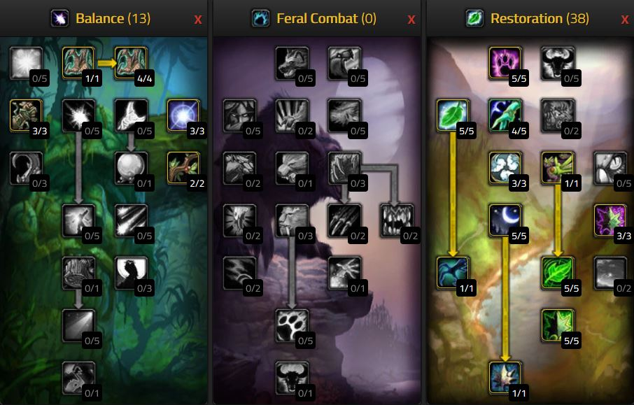 Pve Druid Restoration Talents For Wow Classic