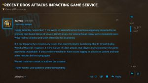 Realms And Services Impacted By Ddos Attack