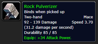 Rock Pulverizer Weapon