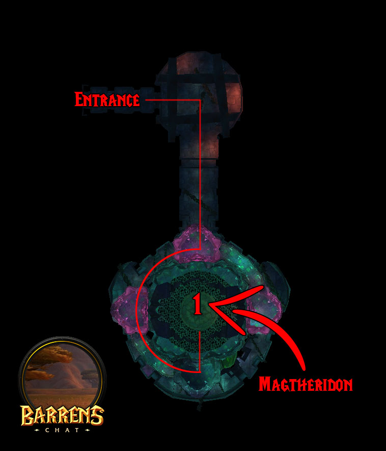Tbc Magtheridon's Lair Map & Boss Location