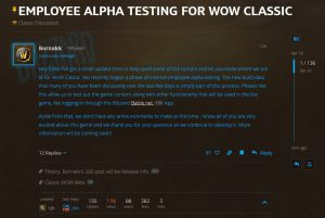 The Classic Beta on the CDN is actually an employee Alpha