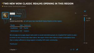 Two New Realms Being Added To Us Region