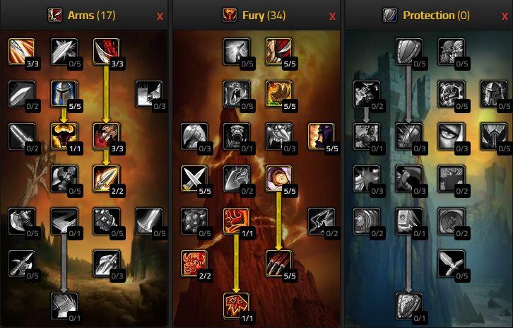 Wow Classic 1h Fury Warrior Talents