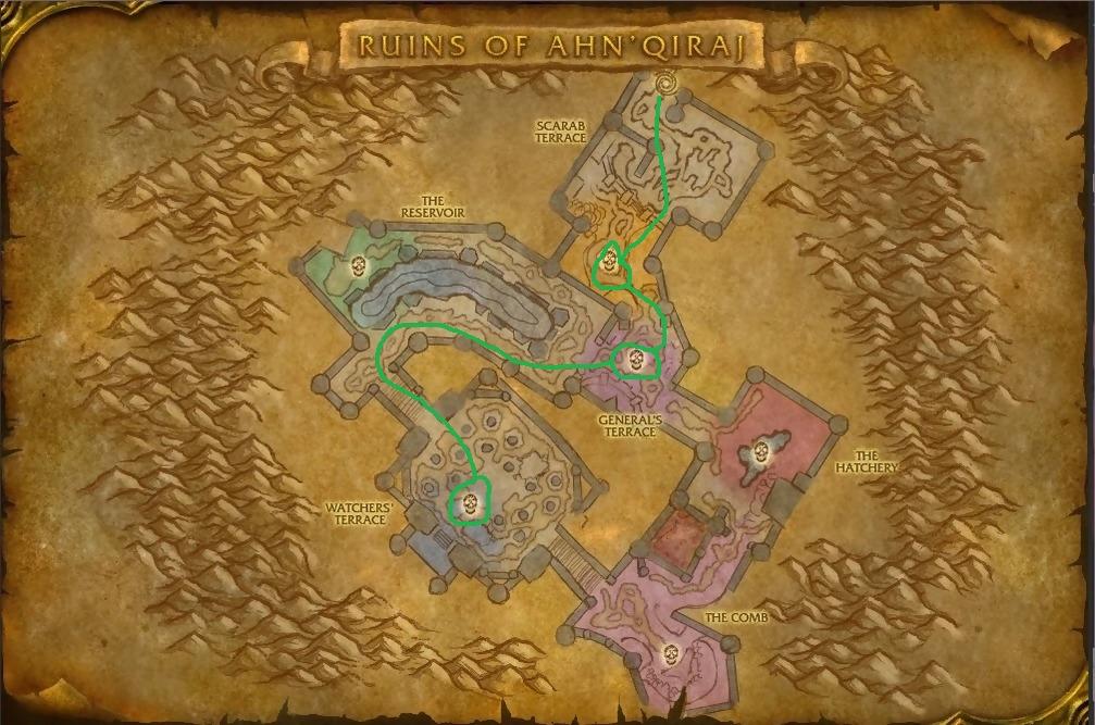 Wow Classic Aq20 Ruins Of Ahn'qiraj Effecient Boss Route