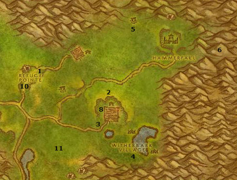 Wow Classic Alliance Leveling Guide 36 37 Arathi Highlands
