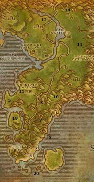 Wow Classic Alliance Leveling Guide 42 43 Stranglethorn Vale