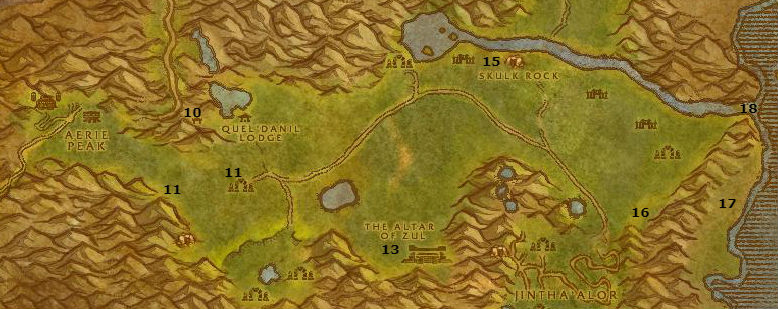 Wow Classic Alliance Leveling Guide 45 46 Hinterlands