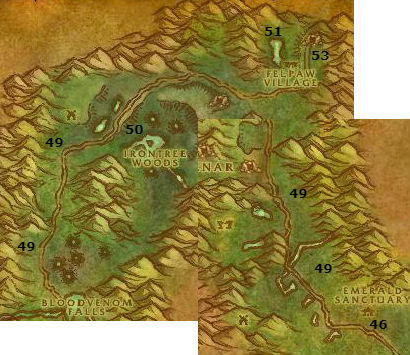 Wow Classic Alliance Leveling Guide 55 56 Felwood