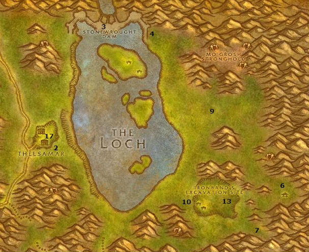 Wow Classic Alliance Leveling Guide Loch Modan