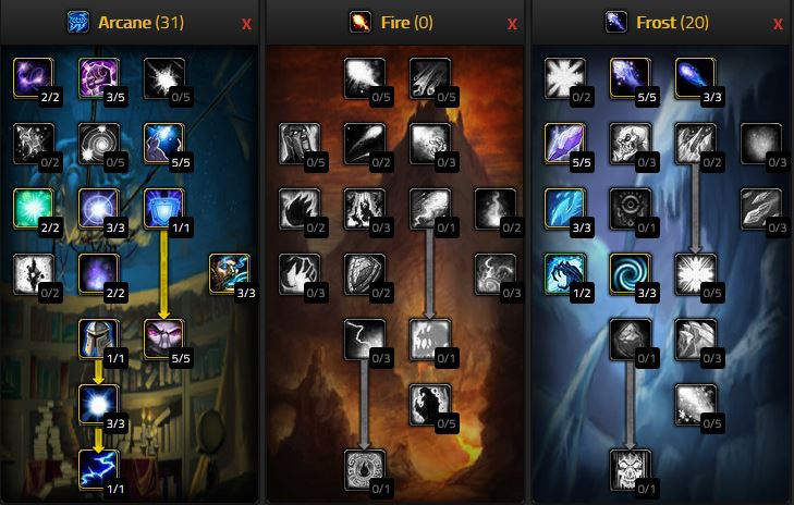 Wow Classic Arcane Mage Pve Dps Arcane Frost Talents