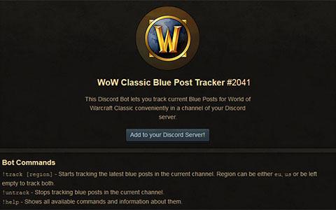 Wow Classic Blue Tracker Discord Bot