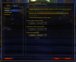 Wow Classic Clique Addon
