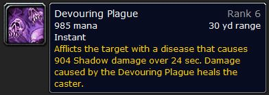 WoW Classic Devouring Plague Spell