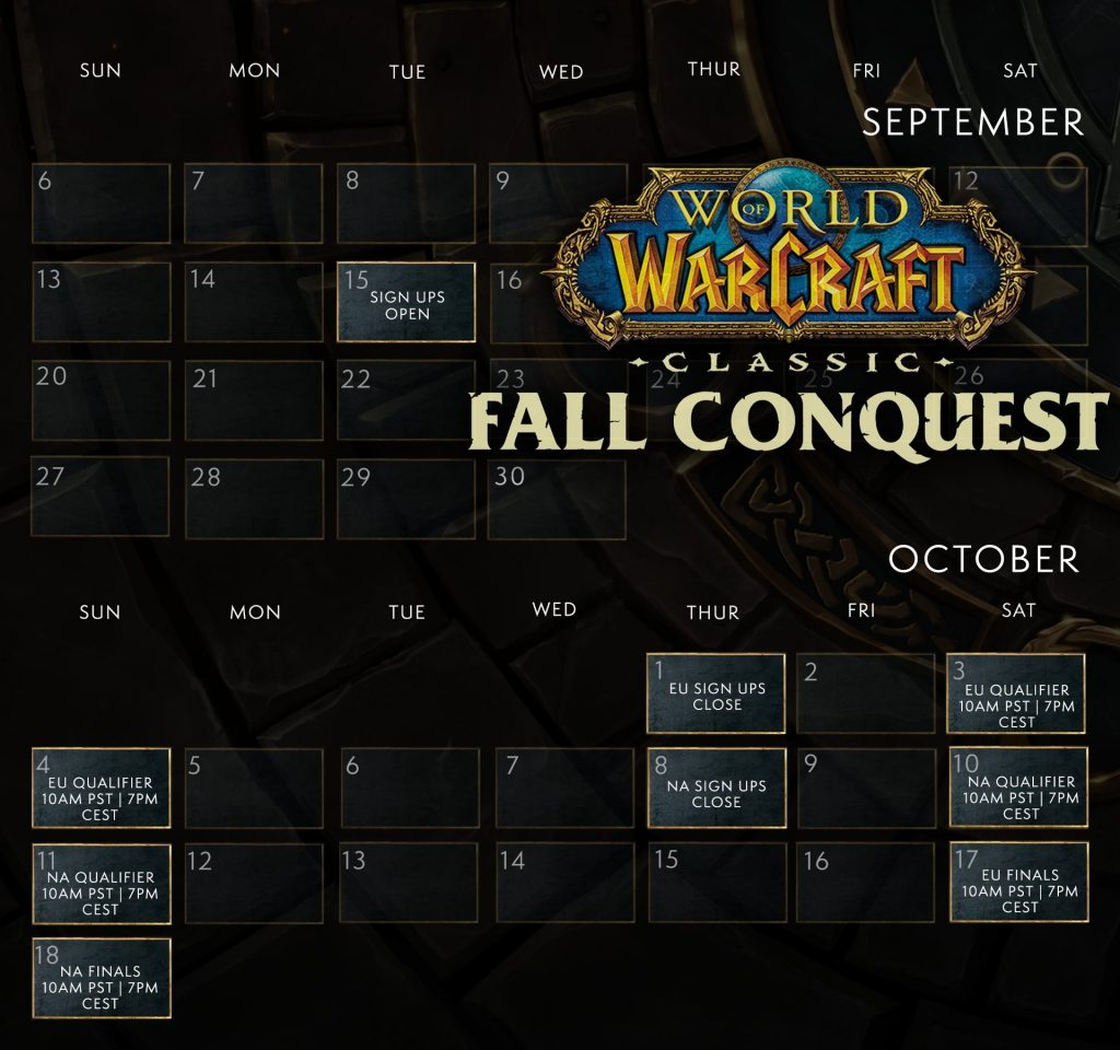 Wow Classic Fall Conquest