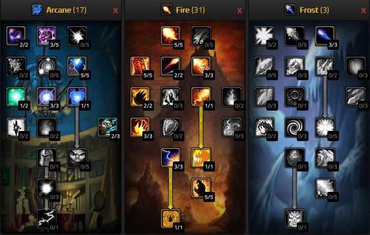 Wow Classic Fire Mage Pve Dps Talents